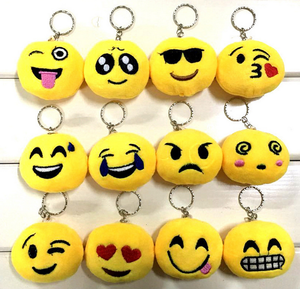 Wholesale Creative Yellow Emoji Soft Toy Keychain Promotion Gift Hotsell