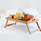 Wholesale custom printed bamboo breakfast snack serving bed tray