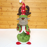 Diverse Color Green Beautiful Christmas Reindeer