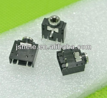 Audio Connector,3.5mm Stereo Jack Pcb Mount Socket. - Buy 3pin Jack,3.5 on