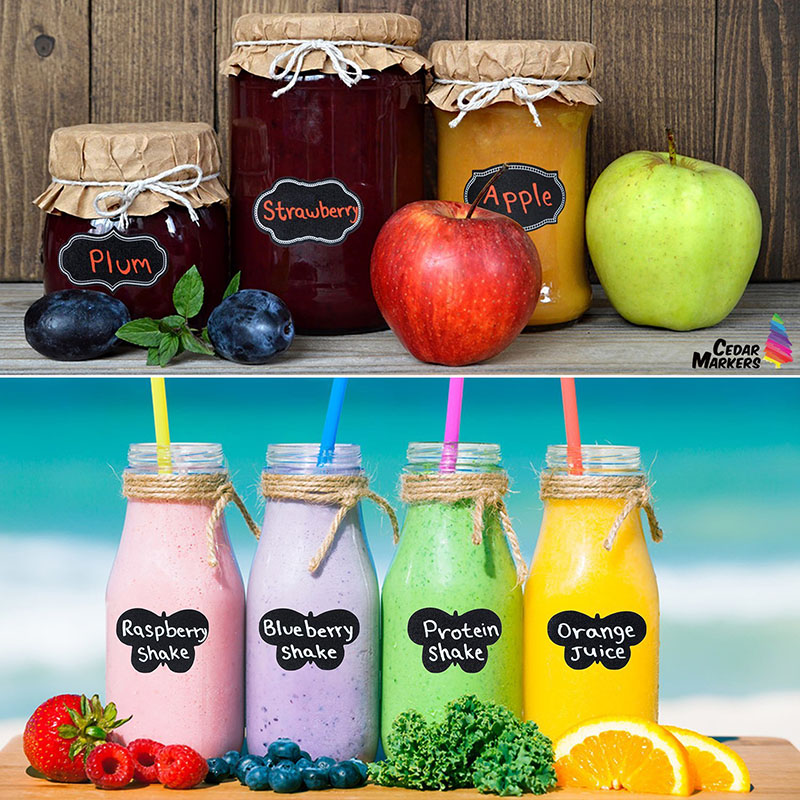 2017 Hot Sale Vinyl Diy Wedding Favors/ Mason Pantry Canisters Jars Stickers / Wine Chalkboard <strong>Labels</strong>
