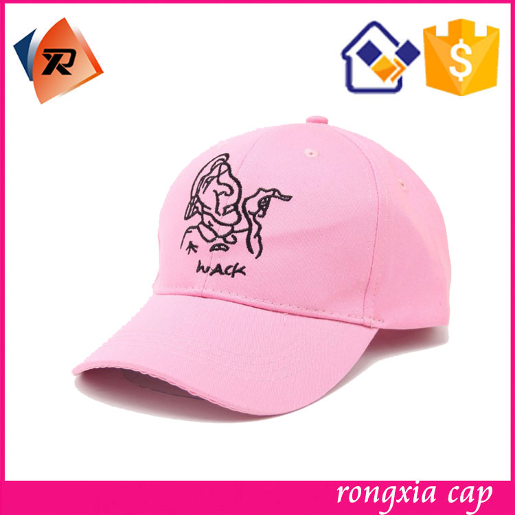 hot pink suede baseball cap promotional custom embroidery polo leather