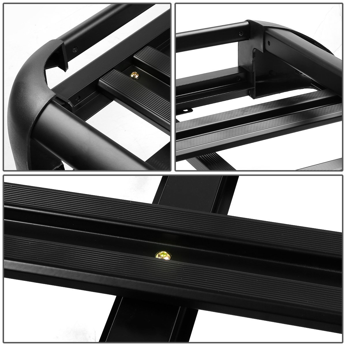 Good Price for  Aluminum Top Luggage Basket Roof Rack Cargo In Black