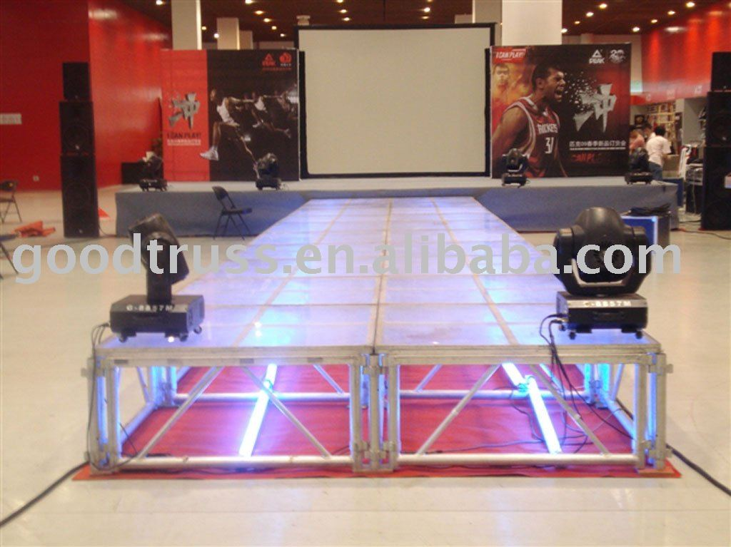 indoor & outdoor aluminum plastic stage / mobile stage glass block