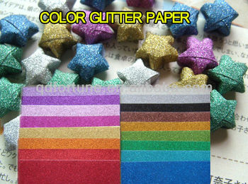 BEAUTIFUL COLOR GLITTER PAPER FOR CRAFT WORKBLUEREDSLIVERGREEN