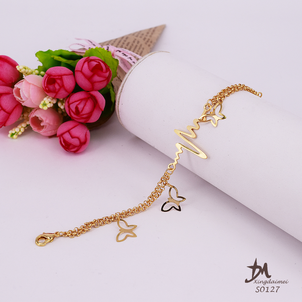 2017 new design Anklets jewelry 24K gold women Bracelet Anklet S0127