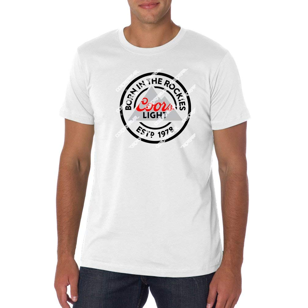 fa9bd1a174594 Get Quotations · Coors Light - Born Distressed Beer Shirt