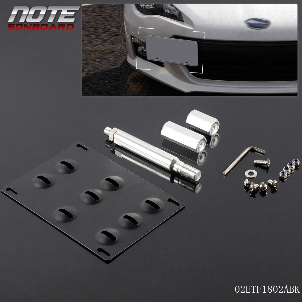 2013-up For Subaru BRZ Bumper Tow Hook License Plate Mount Bracket