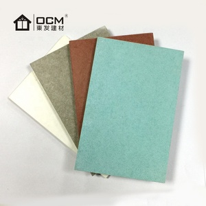 Various Color and 1.35g/cm3-1.5g/cm3 Density 6mm Exterior Wall Panels Cement Fiber Board
