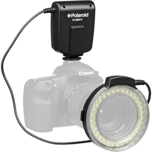 Polaroid Macro LED Ring Flash & Light For The Canon Digital EOS Rebel SL1 (100D), T5i (700D), T5 (1200D), T4i (650D), T3 (1100D), T3i (600D), T1i (500D), T2i (550D), XSI (450D), XS (1000D), XTI (400D), XT (350D), 1D C, 70D, 60D, 60Da, 50D, 40D, 30D, 20D, 10D, 5D, 1D X, 1D, 5D Mark 2, 5D Mark 3, 7D,