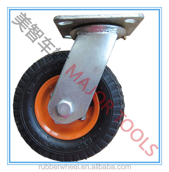 6 inch small caster and rubber wheel for trolly and tool carts