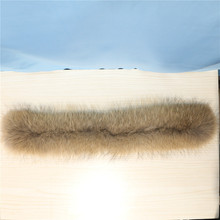 factory winter new natural color wholesale real raccoon fur trim for hood