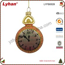 glass clock inflate ball for Christmas tree decoration