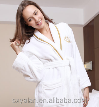 China manufacturer wholesale 100% cotton velour family bathrobe set