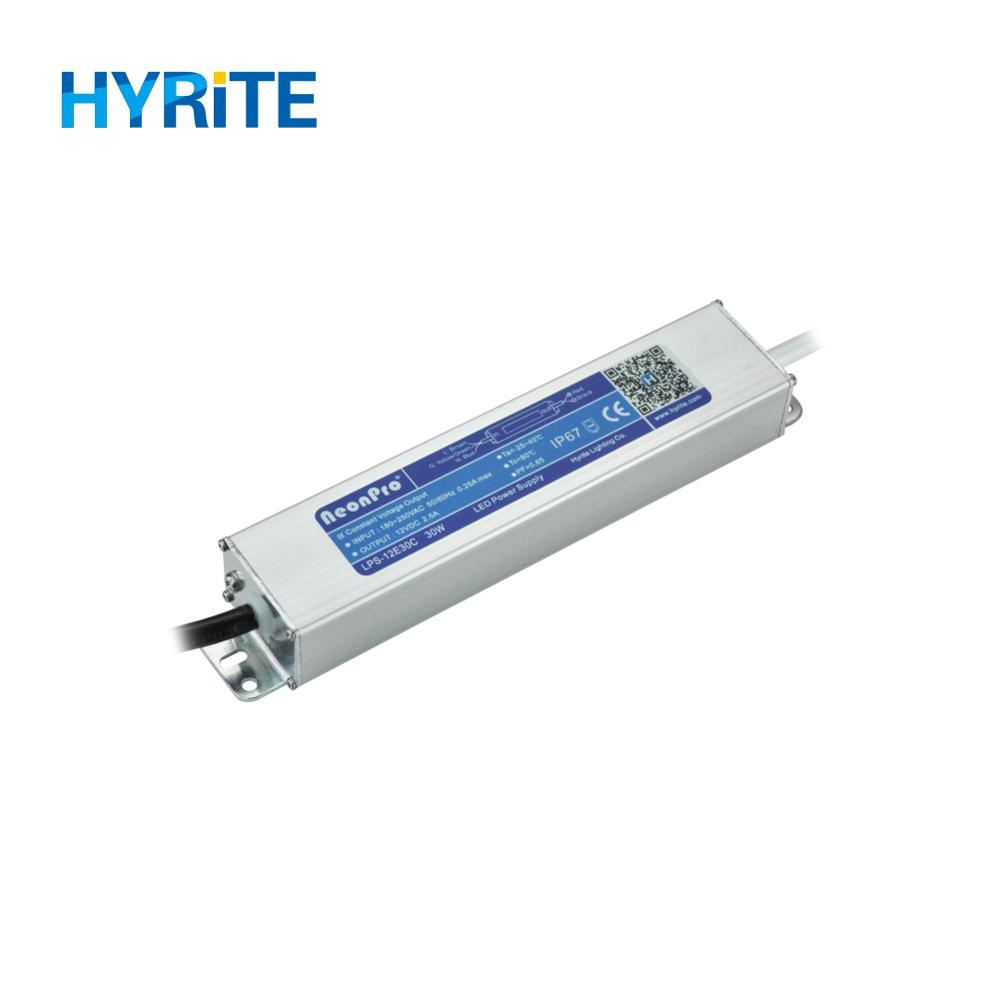 NeonPro Waterproof IP67 12V 30W LED Power Supply for Outdoor Signage