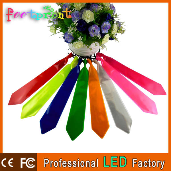 cheap colorful led polyester ties for man