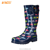 2017 Rain Boots Shoes Women Boot Black Colorful Umbrella Rubber Sole Fashion Thigh High Boots Wholesale Womens Shoes DXF170