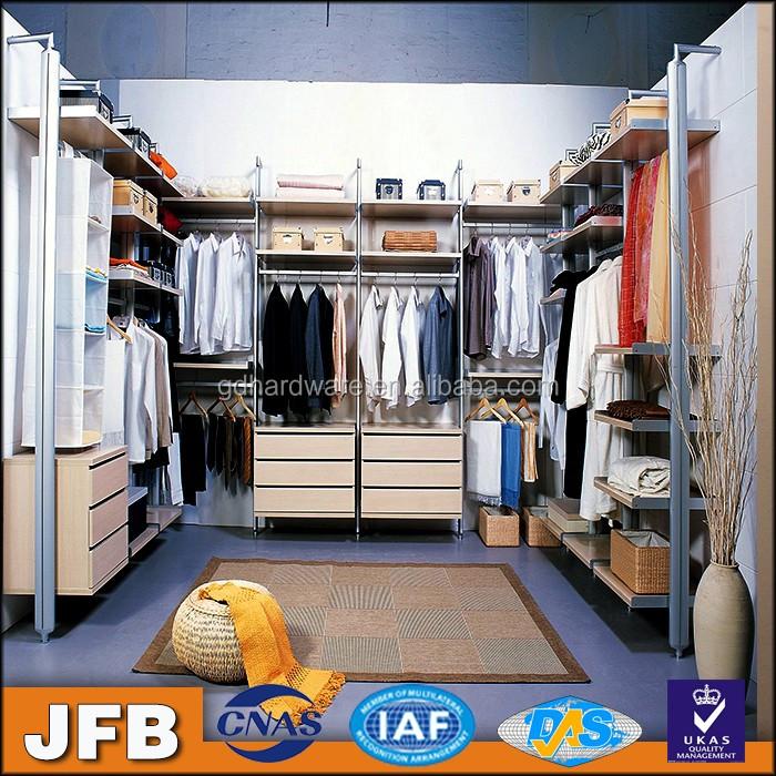 Nice Looking And Cheap Aluminum Column Wardrobe Simple Style No Door Bedroom Walk In Closet