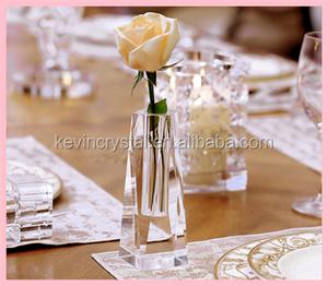 Alibaba & wedding decorations crystal single flower vase wholesale