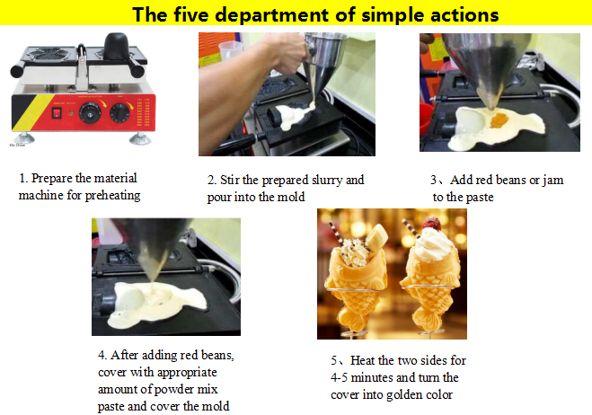 Widely Used Hot Sale Fish Waffle Make Machine ice cream waffle cone maker/ice cream cone taiyaki/sugar cone making machine