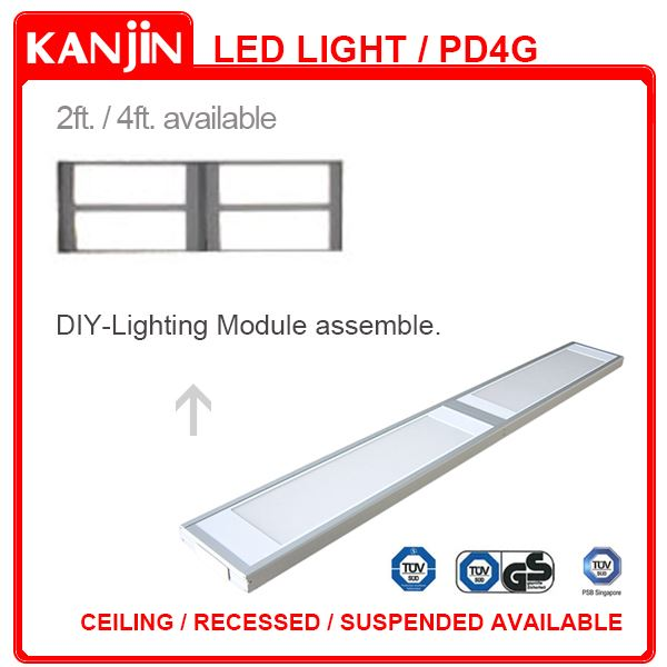 44w 30x120 1x4 Led Suspended Ceiling Light Panel