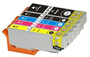 TS 5-PK T273XL Remanufactured compatible ink cartridges for T273 (1 BLACK , 1 Photo Black , 1 YELLOW, 1 MAGENTA, 1 CYAN) Expression Premium XP-600, Expression Premium XP-610, XP-800, XP-810