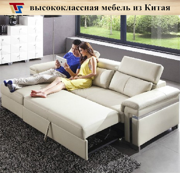 Furniture With Free Shipping: Real Leather Black Gray Brown Corner Sofa Bed Sleeper