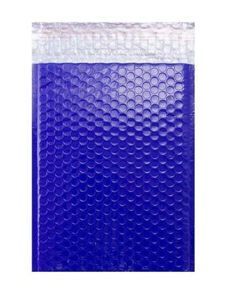 10 Pack Metallic Bubble mailers 7.5 x 11. Blue padded envelopes 7 1/2 x 11. Glamour bubble mailers Peel and Seal. Padded mailing envelopes for shipping, packing, packaging.