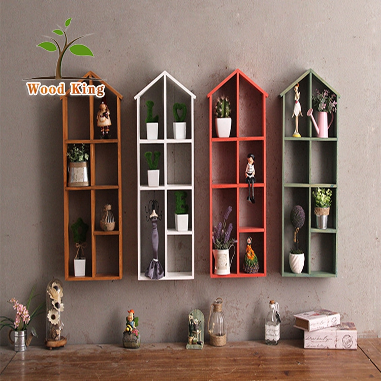 zakka home decor wooden furniture cabinet wood wall shelves home decor wooden furniture Zakka Creative Spray Paint Chinese Fir Put Aside Frame Multi-Function  Decorative Frame Pendant Wooden Wall Hanging Cabinets