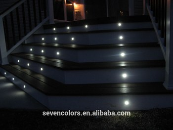 Tuv Low Voltage Colour Changing Led Stair Light Concrete Floor Lights Built In