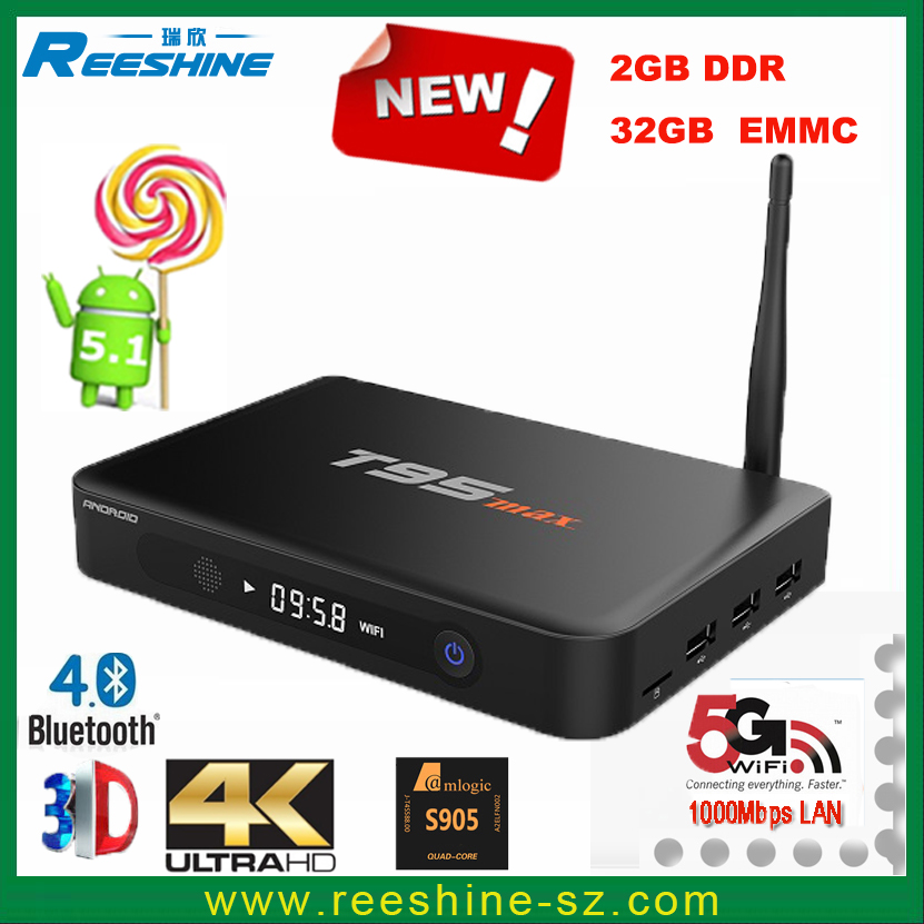 Hot sell t95 max 2gb 32gb metal case T95max amlogic s905 free to air internet satellite receiver