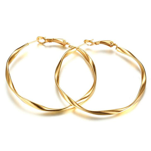 Low MOQ Gold Studs Stainless steel Studs Women Simple Jewelry Number 8 Lucky knot Earring