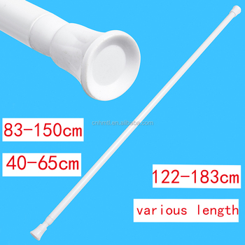 10mm Iron Spring Tension Rod Shower Curtain Pole Cafe Rail