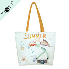 Wholesale heavy large sublimation tote bag personalized travel beach canvas shopping tote bag