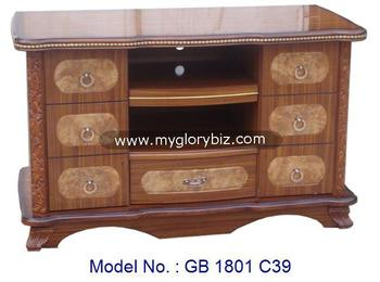 Tv Stand Designs In Wood : Antique designs furniture wooden tv cabinet for living room tv