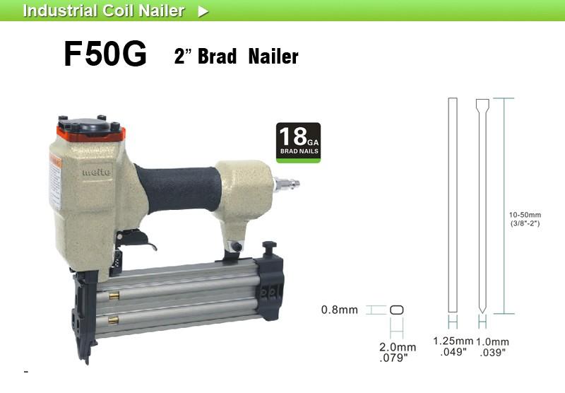 Meite F50g Brad Nail Gun Framing Nailer Decorative Tool 18 Gauge ...