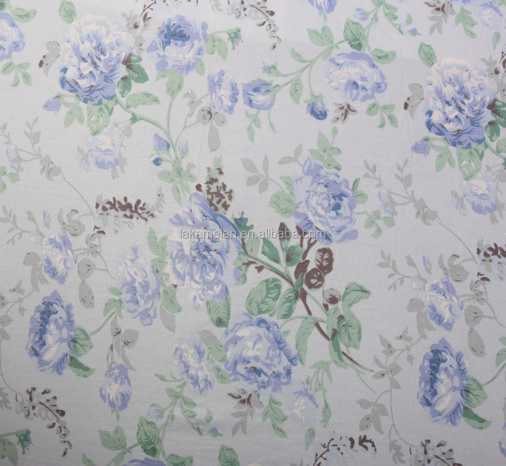 High thread count 100% cotton printed fabric for bed linen