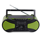 portable solar emergency weather radio with mp3 player