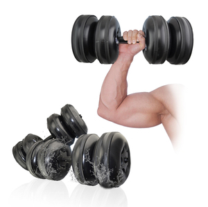 2019 Latest rubber sand filled dumbbell cement workout for strength