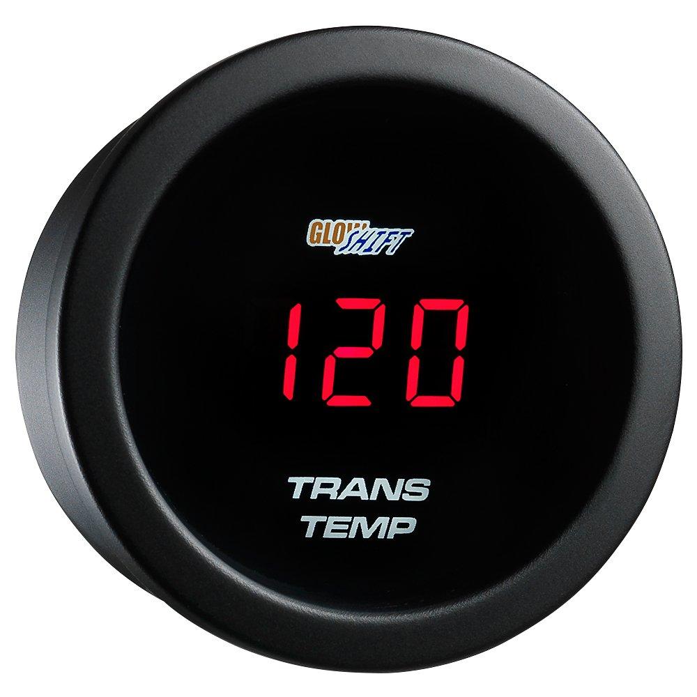 GlowShift Red Digital LED Transmission Temperature Gauge