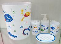 Kids Plastic bathroom set and accessories--MZ-BP00113