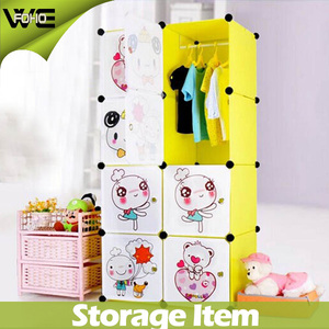 Pink DIY Modular Cube Storage Rack Shelf Wardrobe Box Storage
