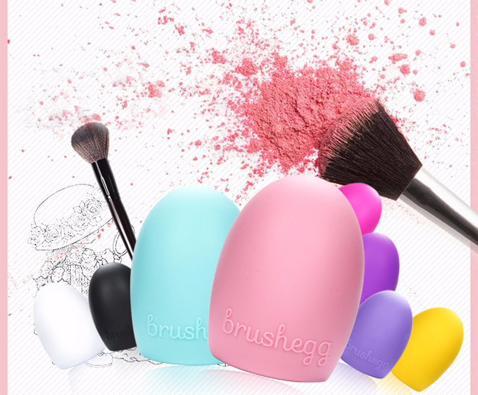 Hot Sale Makeup brush egg cleaning supplies The fashion colour makeup brush egg