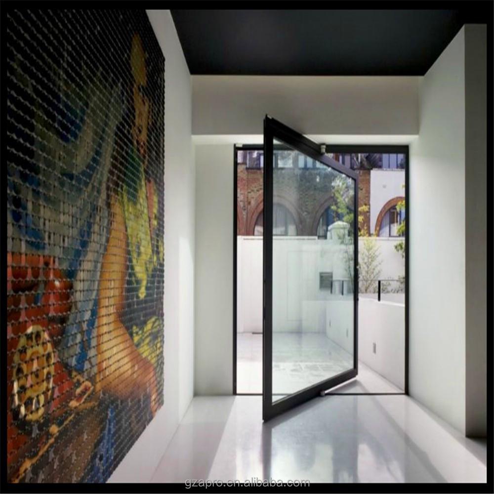 Aluminum Pivot Entrance Doors For Residential Main Door