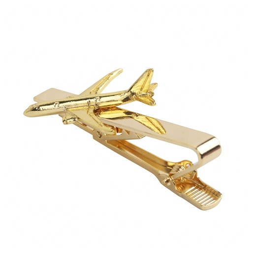 Direct manufacturer custom plane  metal  tie clip
