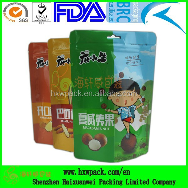 Stand up nuts packaging bag/Vacuum nuts pouch/Dried fruits pouch