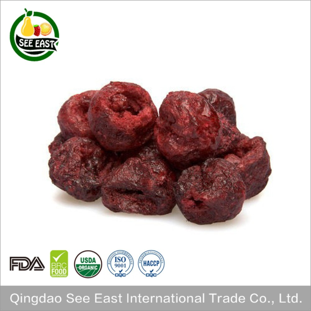 HACCP Certified snack fruits freeze dried red sour cherry dried cherries
