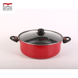 silicon handle carbon dutch oven pot soup stocked pot with glass lid