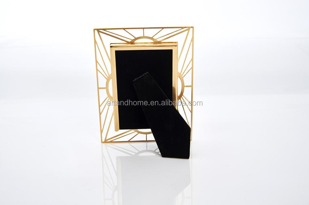 golden hollow design picture photo frame