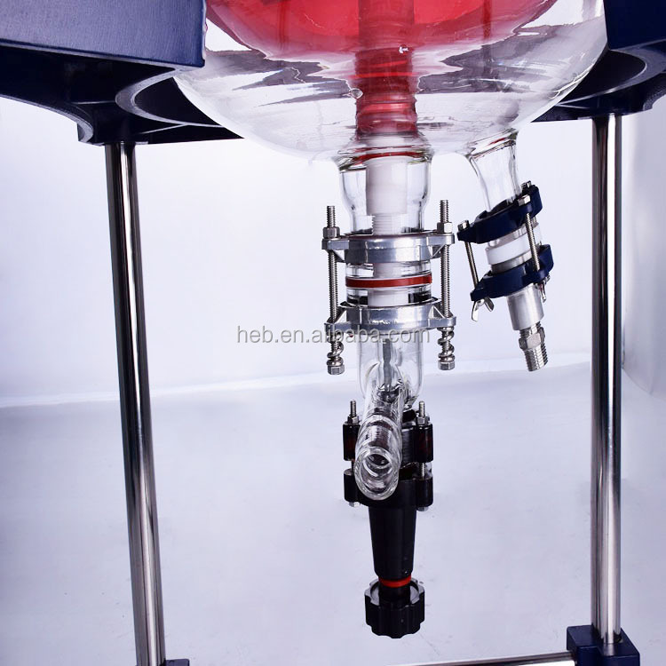 HEB-150L Industrial Stainless Steel Chemical Jacketed Glass Reactor